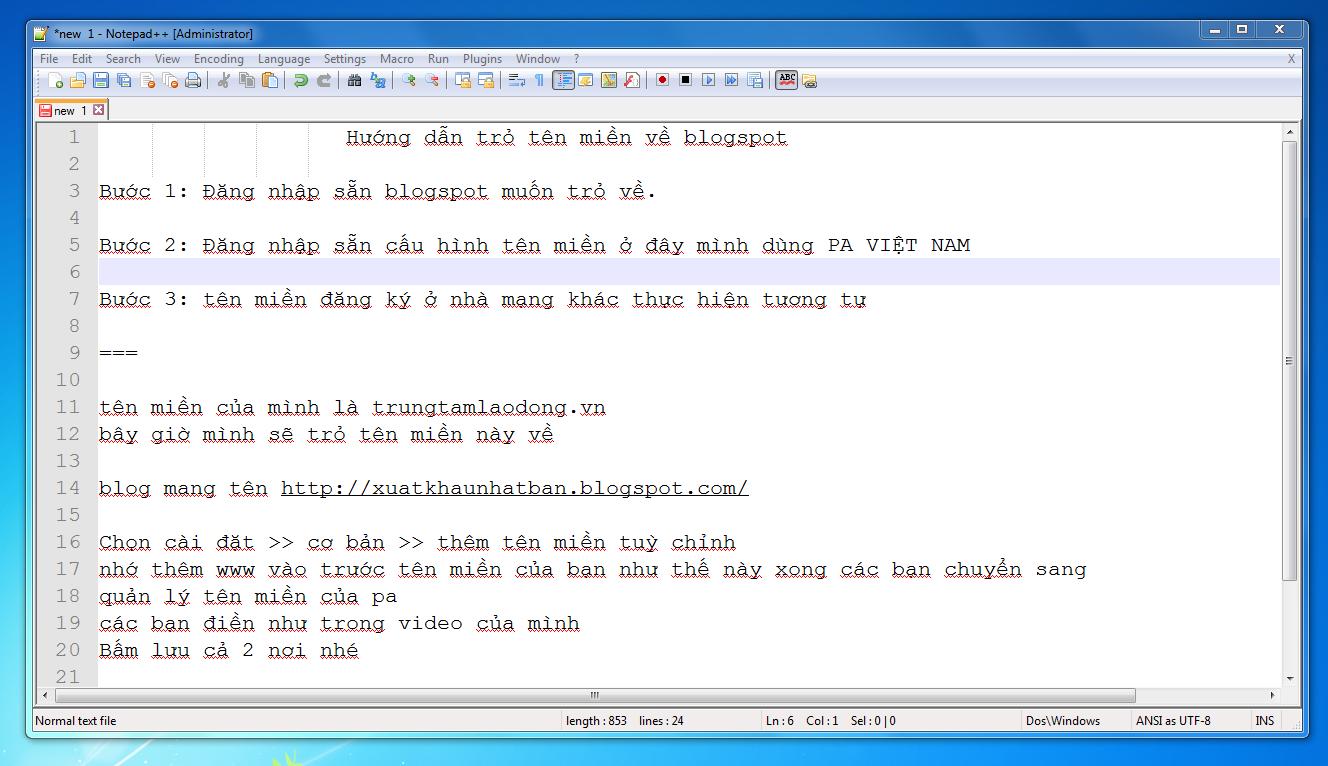 video hướng dẫn trỏ tên miền về blogspot