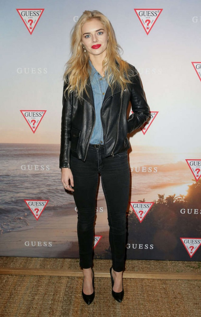 Samara Weaving stuns in denim at the Guess Spring 2015 launch in Sydney