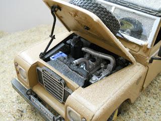 coche a escala Land Rover serie 3 109