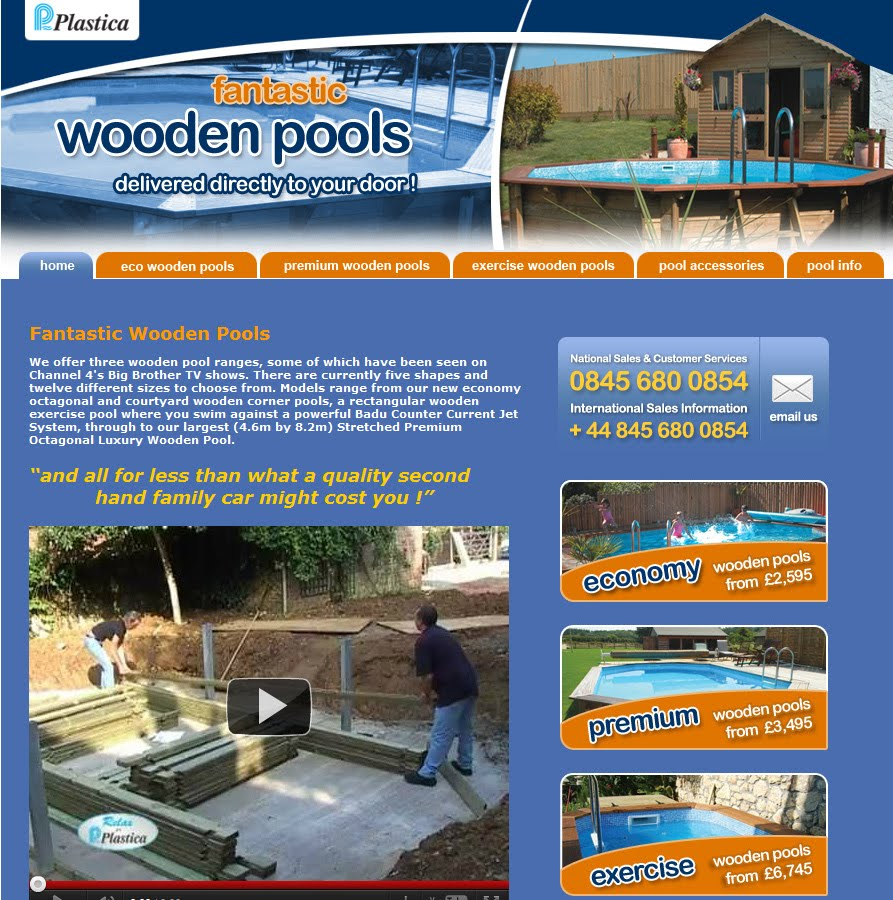 4m Plastica Wooden Pool a Plastica Wooden Pool Has