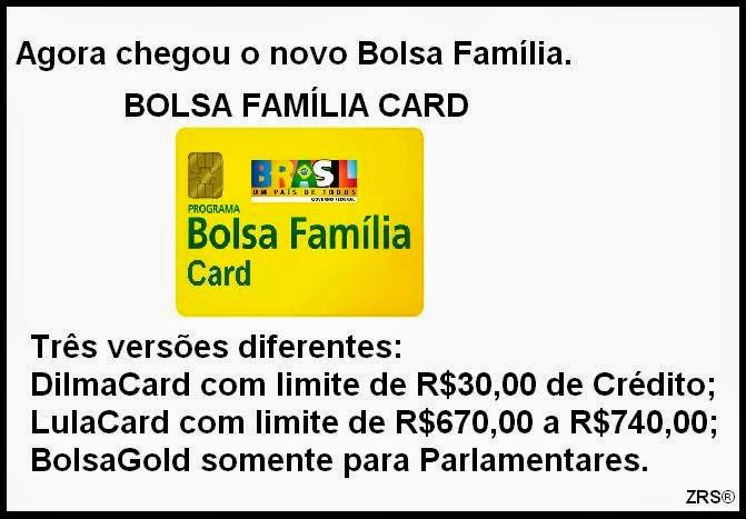 O Bolsa Família agora é muito mais que um simples cartão de Benefício. Ele agora também é Cartão de Crédito.