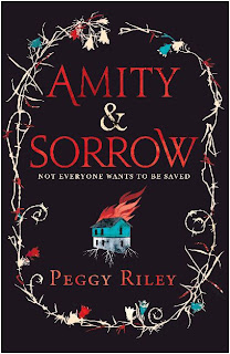 UK hardback cover of Amity & Sorrow by Peggy Riley published by Tinderpress
