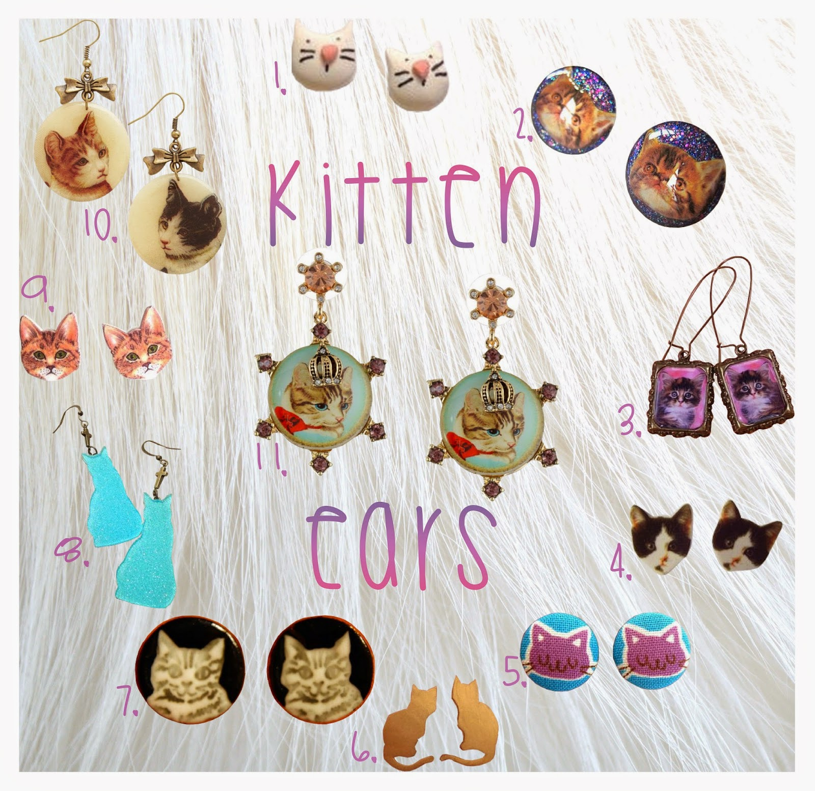 cat-jewelry, kitten-jewelry, kitty-jewelry, kitten-earrings