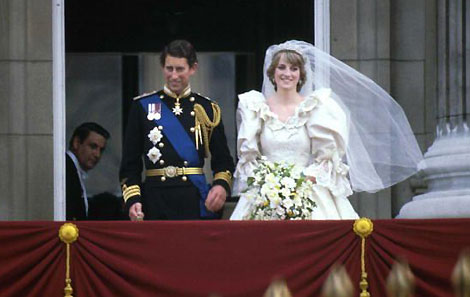 Royal Wedding Pictures: Prince Charles and Princess Diana in Balcony
