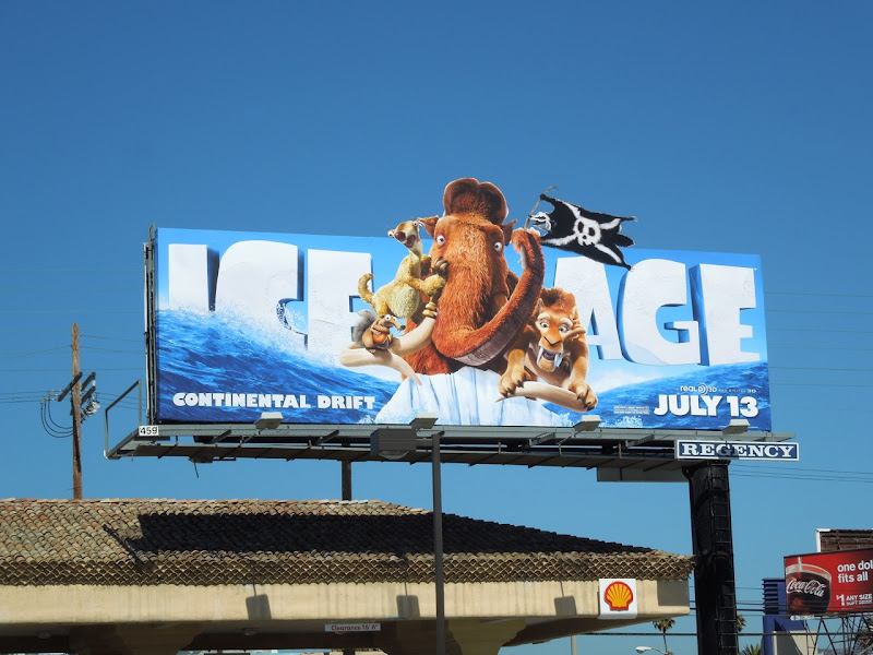 Ice Age Continental Drift billboard