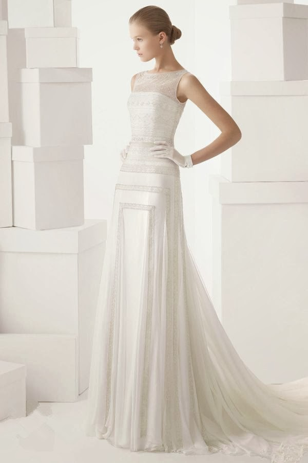My fancy bride blog elegant sheath wedding dresses for for Wedding dresses for tall skinny brides