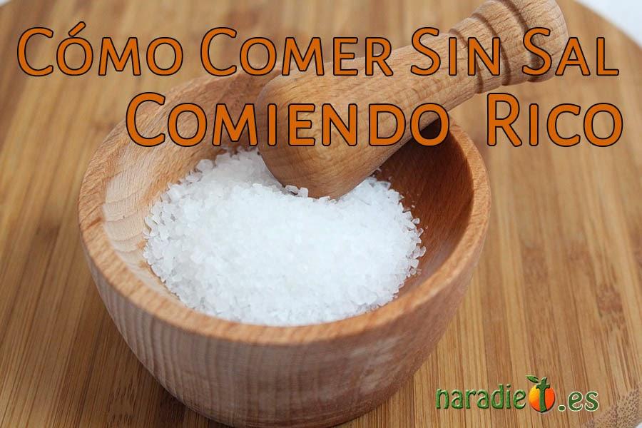 cómo comer sin sal comiendo rico