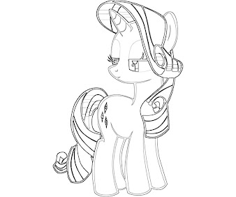 #11 Rarity Coloring Page