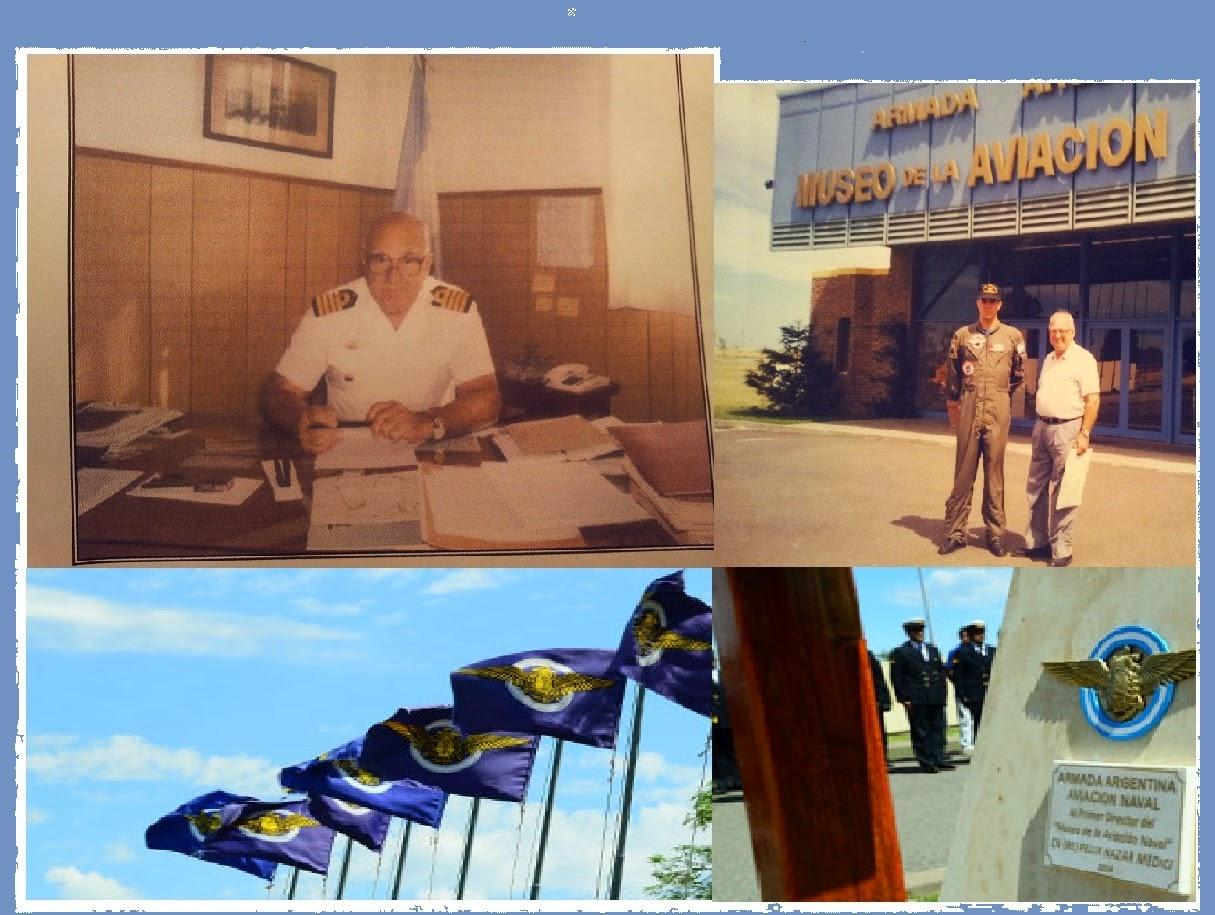 Recordatorio al primer Director del Museo Aeronaval