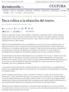 CRITICA DIARIO DE SEVILLA - 28 SEPTIEMBRE 2012