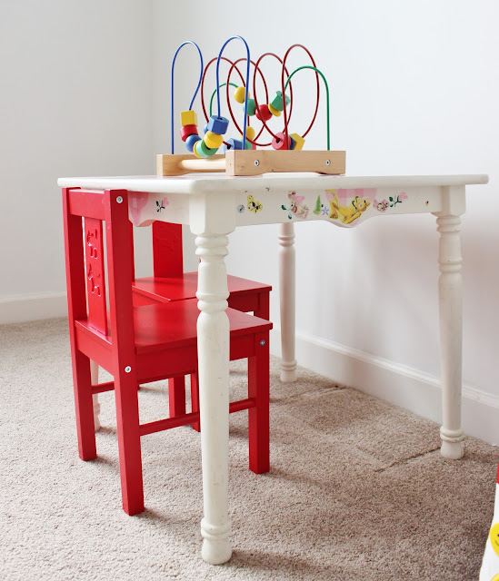 "Kid's Chalkboard Table Makeover ""Before"" Pics....Click to See the After!"