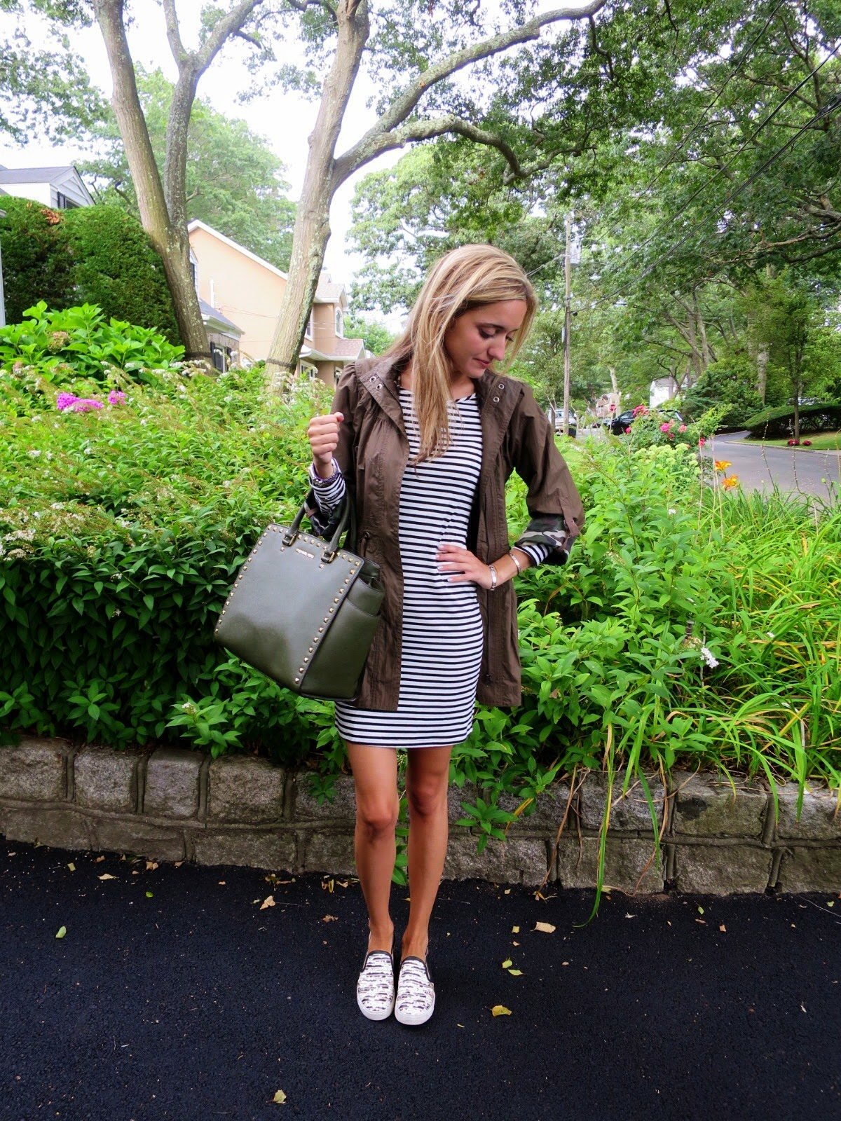 striped francesca's dress