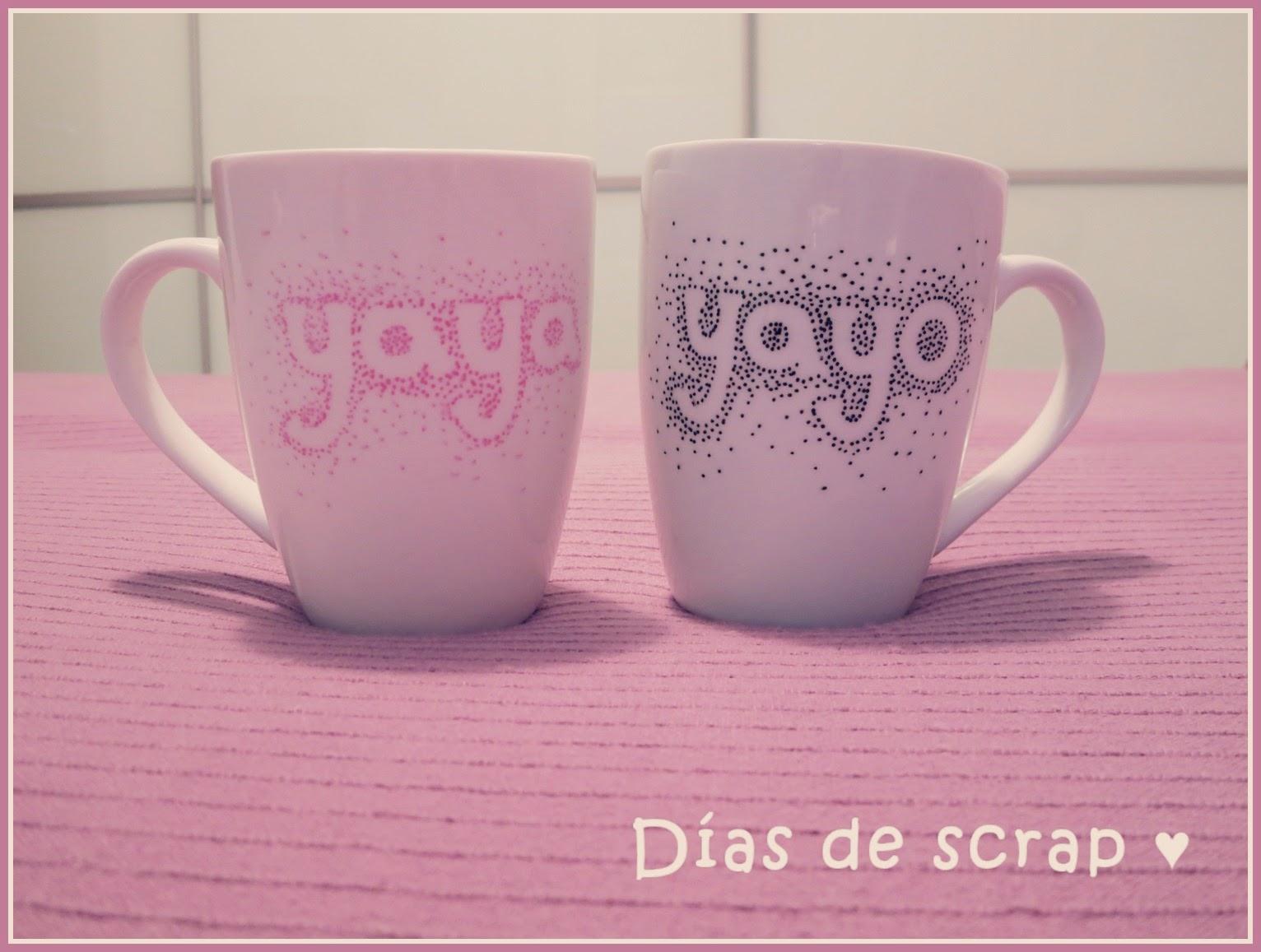 diy tazas ceramica decoradas yaya y yayo