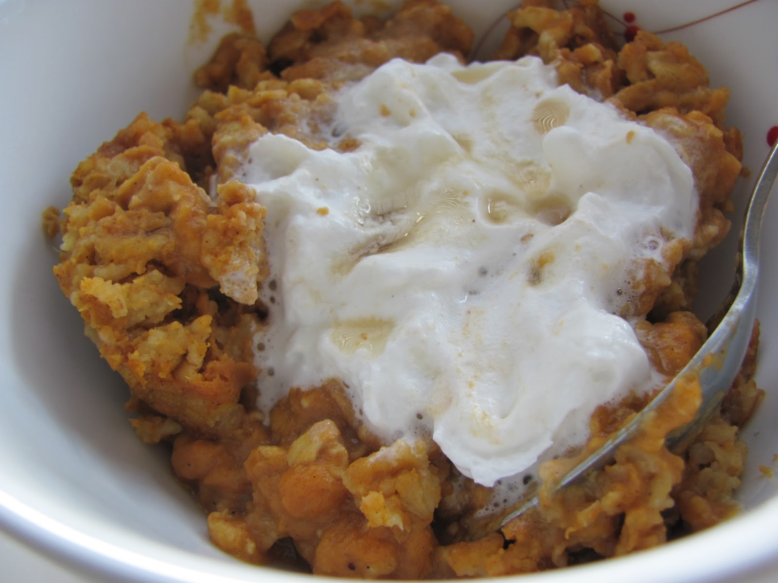 Running Upward: Baked Pumpkin Pie Oatmeal- (So good I ate it for ...