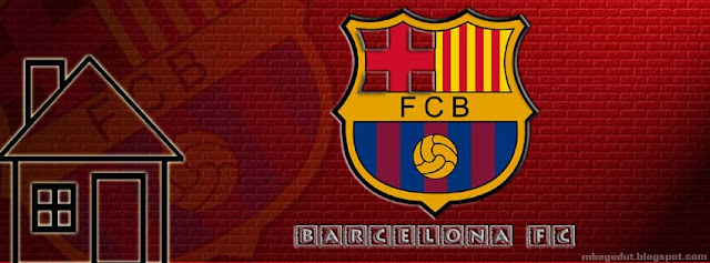 Barcelona FC Facebook Cover Red Brick