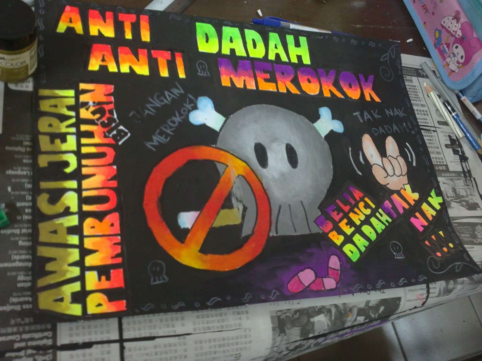 AKTIVITI : Pertandingan Melukis Poster Anti Dadah & Anti Merokok