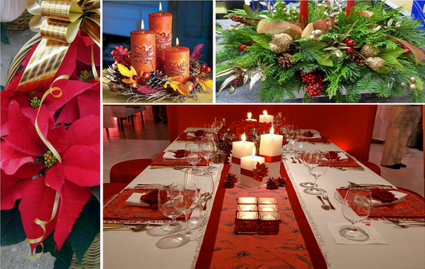 Plantas y flores centros de mesa navide os - Arreglos navidenos para mesa ...