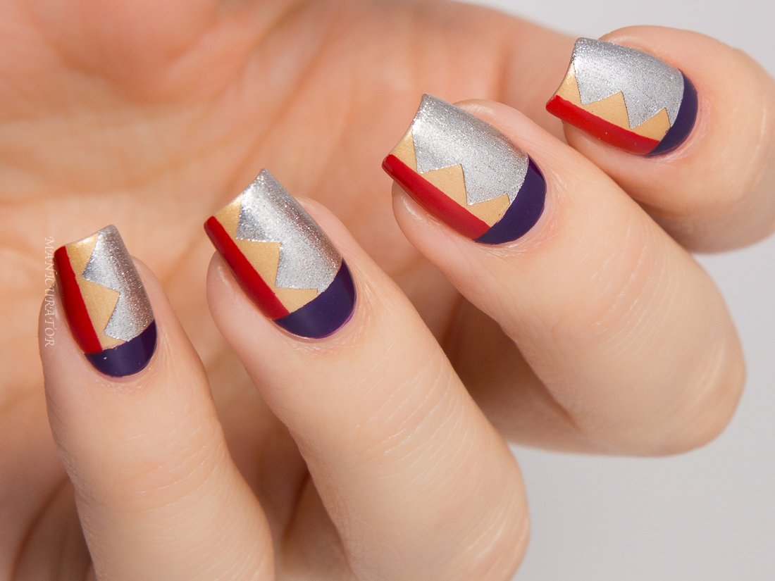 OPI Gwen Stefani Holiday 2014 Nailart Wonder Woman