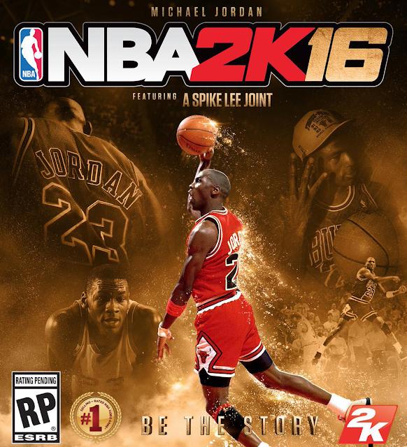 NBA 2K16 Michael Jordan Cover