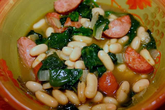 sausage and white bean stew: simple living and eating