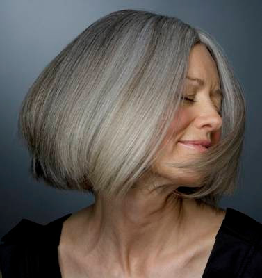 Classic gray bob hairstyle