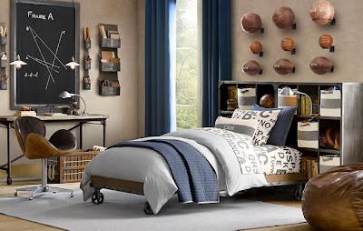 Dormitorios juveniles para varones estilo industrial for Dormitorios para universitarios