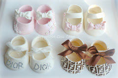 Chic Cake Shoes per battesimi e compleanni.