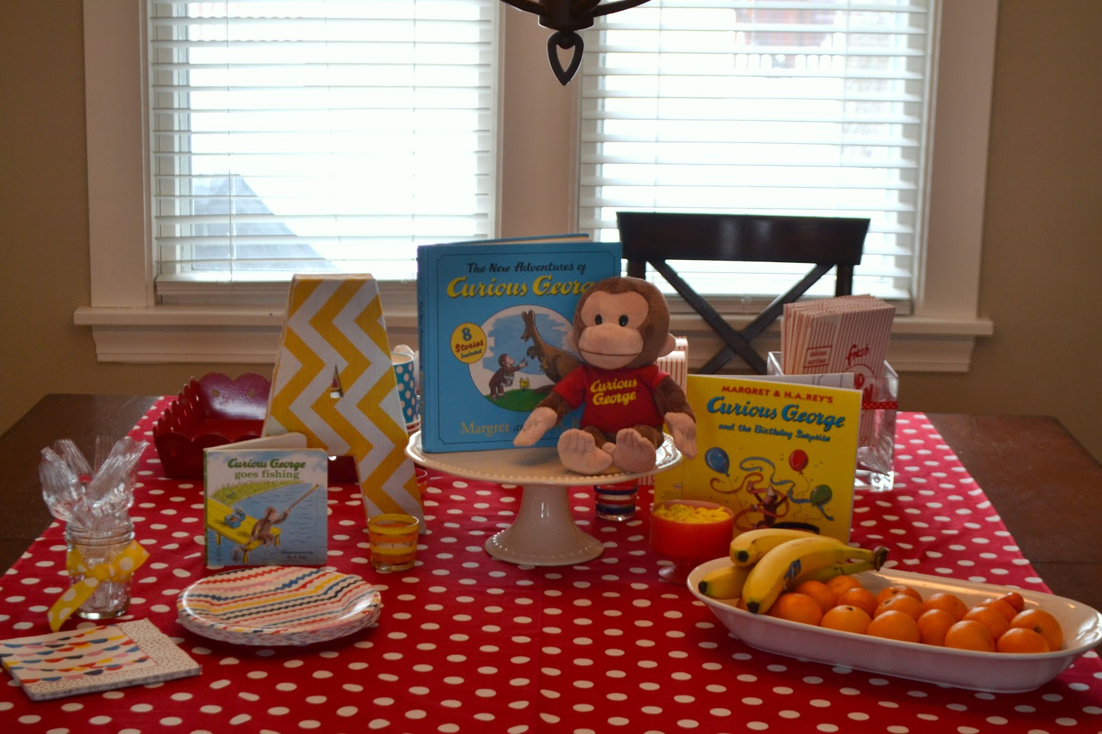 Curious George Birthday Party Centerpiece