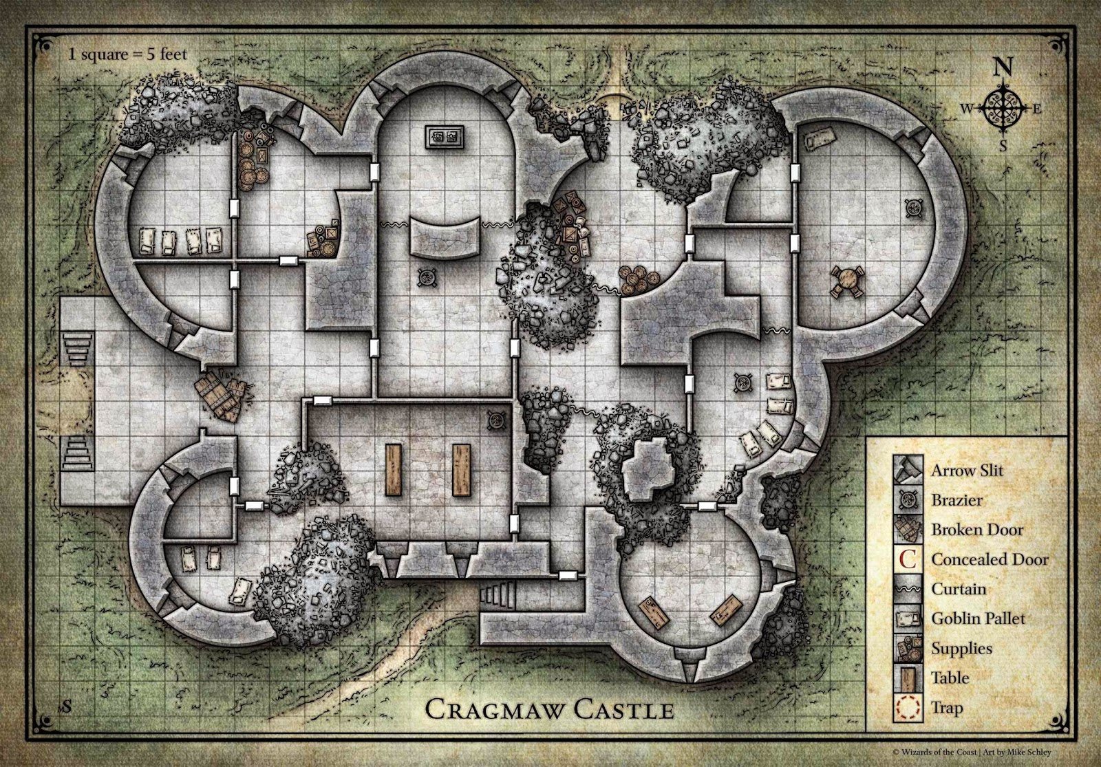 Agile image intended for cragmaw hideout printable map