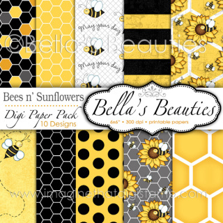 http://www.imaginethatdigistamp.com/store/p78/Bees_n%27_Sunflowers_Digi_Papers.html