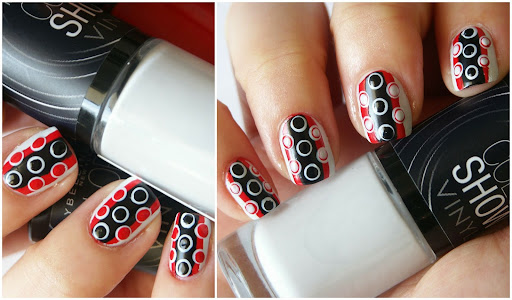 Retro Dots Nail Art with Maybelline Color Show Vinyl Polish