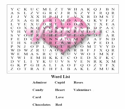 Valentines Word Searches Hard 5
