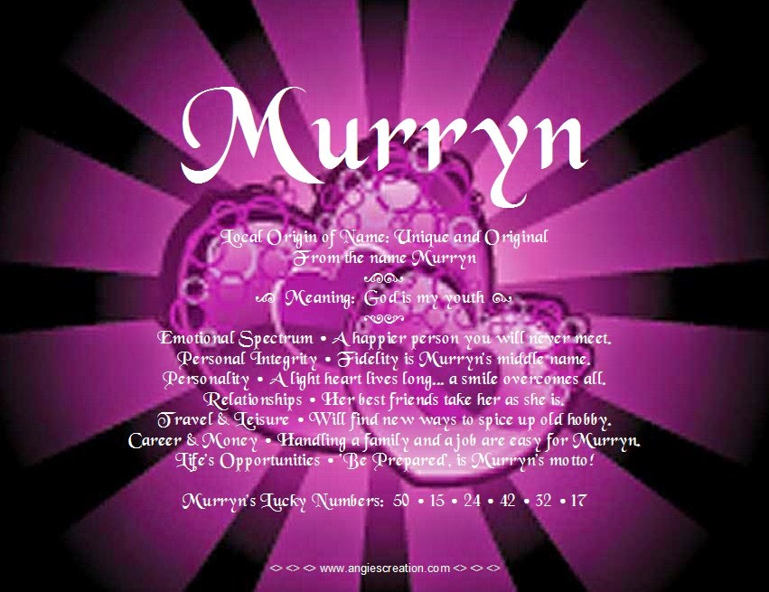 The meaning of the name -  Murryn