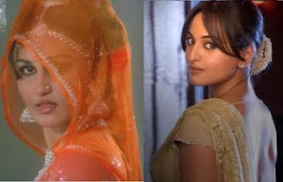 Sonakshi Sinha Reena Roy in saree similarity