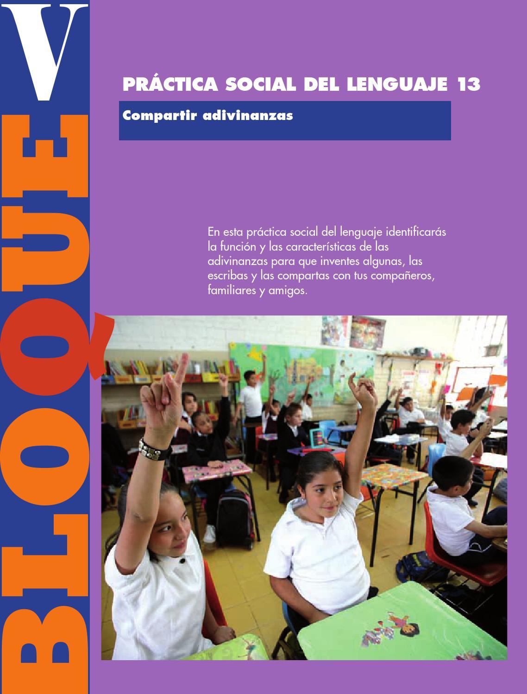 Práctica social del lenguaje 13 español 3ro bloque 5/2014-2015