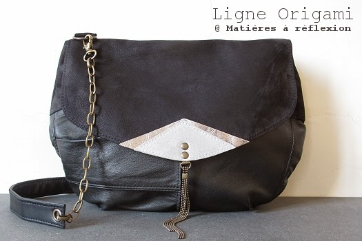 Besace en cuir vintage Origami by Matieres a reflexion