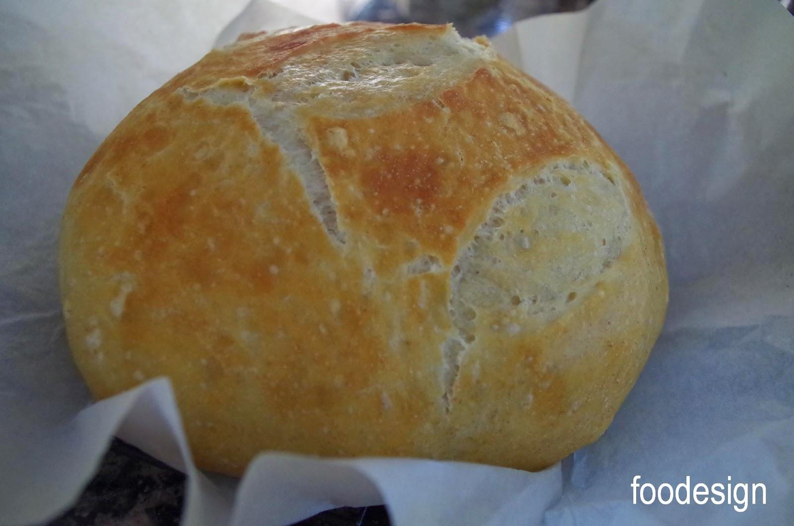 foodesign: weekend baking ~ no-knead bread