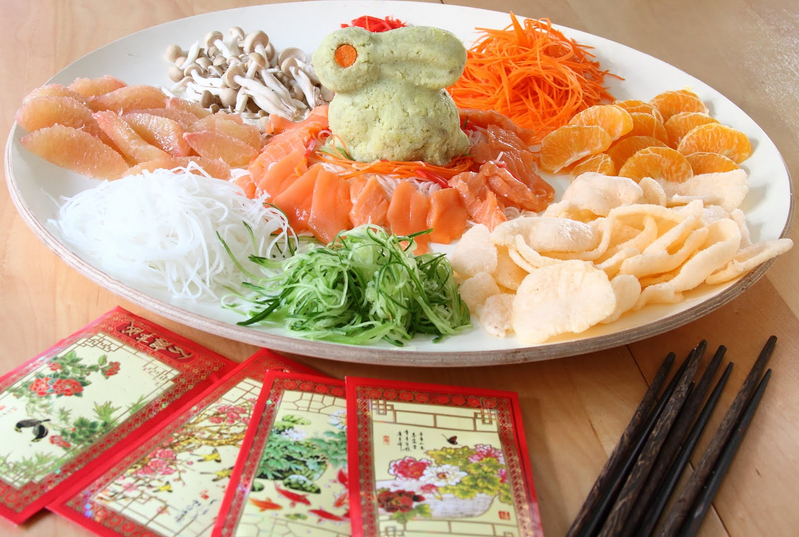 Showfood Chef Yu Sheng Good Luck Food For Chinese New Year
