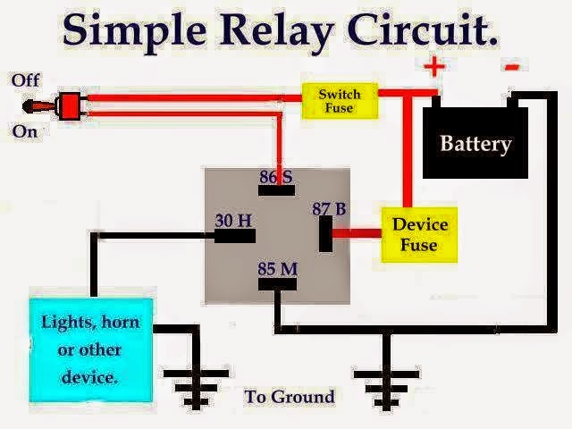 3 terminal horn relay wiring diagram simple relay circuit eee community bosch horn relay wiring diagram