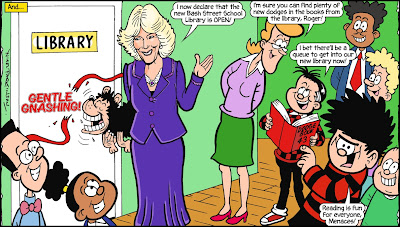 Duchess of Cornwall and Dennis the Menace