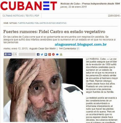 CUBA:Fidel Castro em estado vegetativo