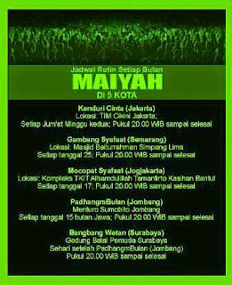 Jadwal Maiyah