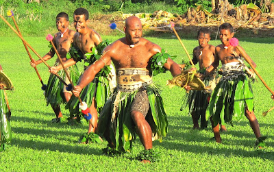 """Warriors"" perform a meke at Daliconi school (Roderick Eime)"