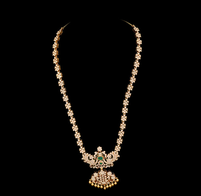 Beautiful South Indian Double Long Necklace Set: Indian Jewellery And Clothing