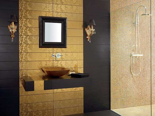 New  Of 3 Total Photographs Modern Futuristic Bathroom Wall Tile Designs