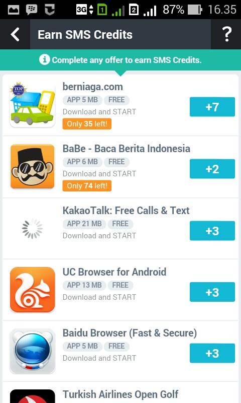aplikasi sms gratis internasional - aink madein gandaria
