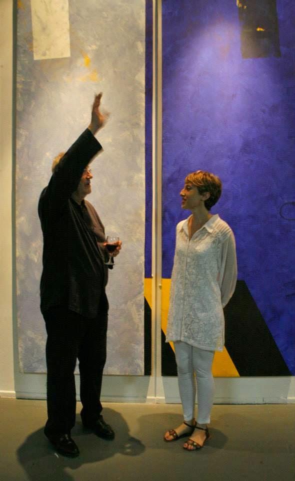 Lucia Ramos y el artista Erik Van Der Grijn