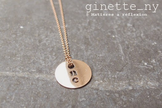 Médaille Ginette NY One en or rose