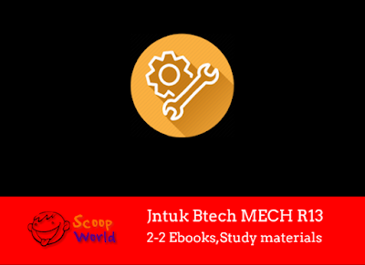 Jntu MECH R13 Text books