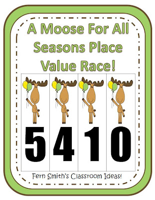 A Moose For All Seasons Place Value Race Game!